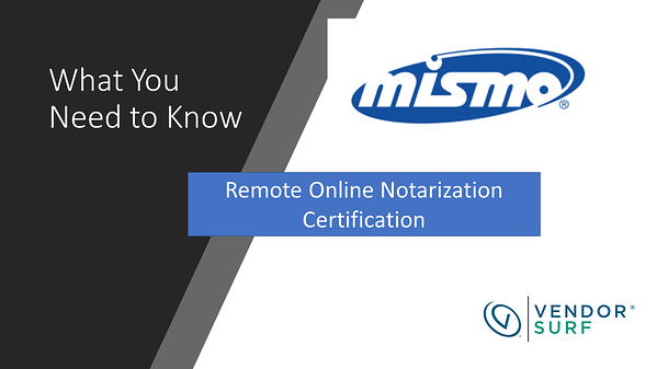 MISMO RON Certification